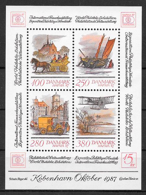 sellos temas varios Dinamarca 1986