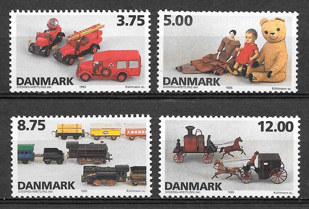 sellos temas varios Dinamarca 1995