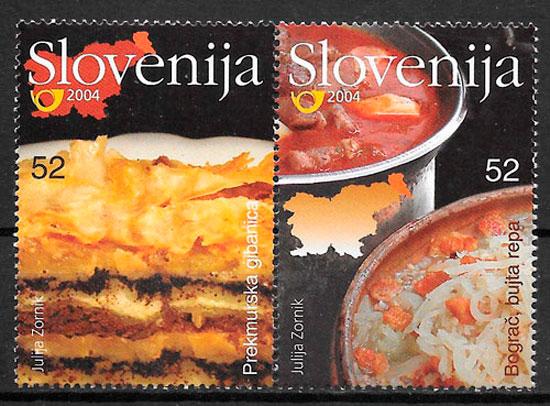 sellos temas varios Eslovenia 2004