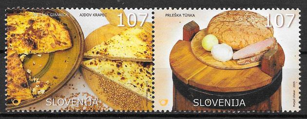 sellos temas varios Eslovenia 2005