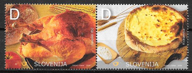 sellos temas varios Eslovenia 2006