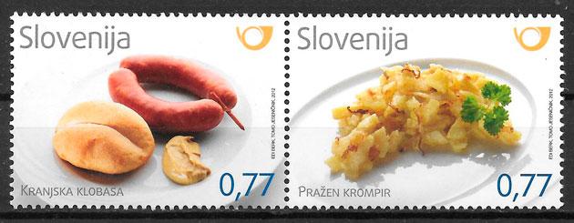 filatelia temas varios Eslovenia 2012