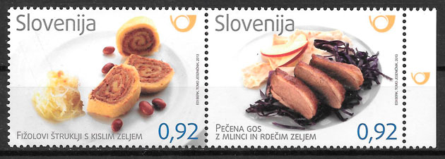 filatelia temas varios Eslovenia 2013