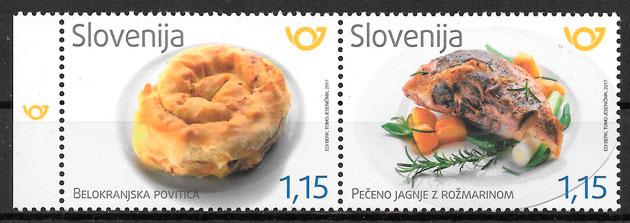 filatelia colección temas varios Eslovenia 2017