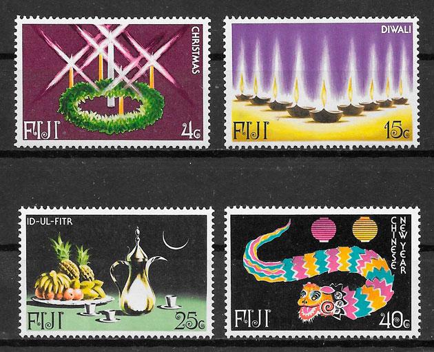 sellos temas varios Fidji 1978