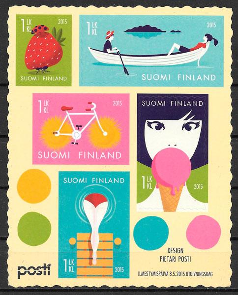 sellos temas varios Finlandia 2015