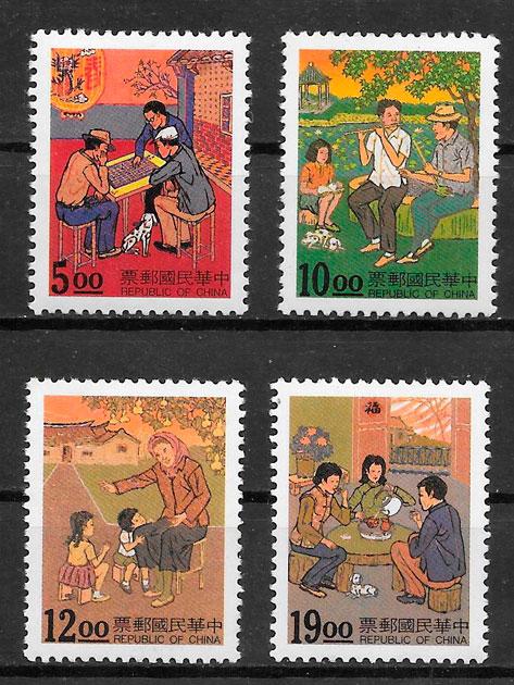 sellos temas varios Formosa 1994