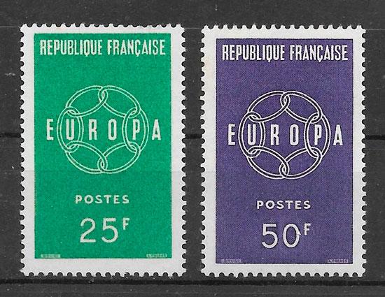 sellos Europa Francia 1959