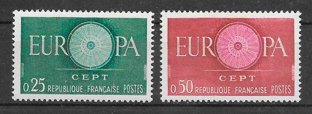 sellos Europa Francia 1960