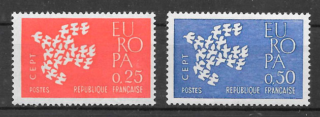 filatelia Europa 1961