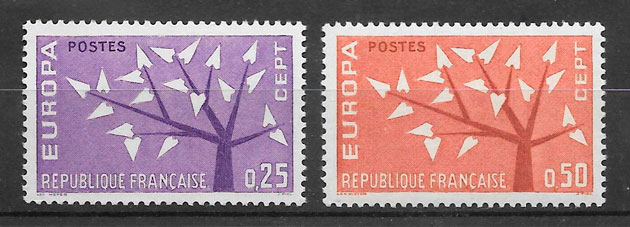 filatelia Europa 1962