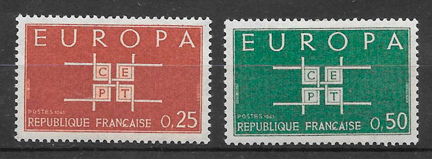 filatelia Europa 1963