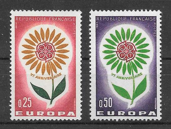 filatelia colección Europa 1964