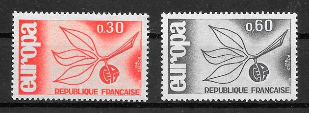 filatelia colección Europa 1965