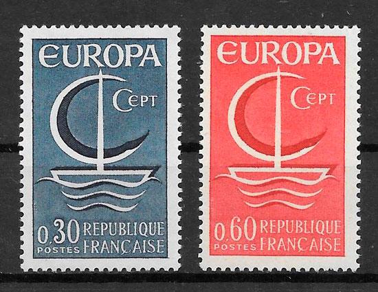 filatelia colección Europa 1966