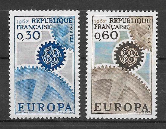 colección sellos Europa 1967