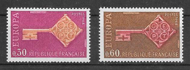 colección sellos Europa 1968