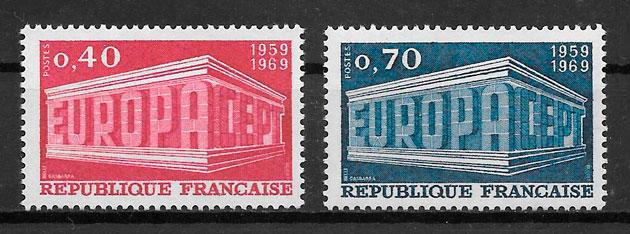 colección sellos Europa 1969