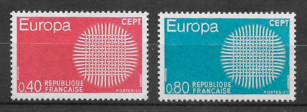 sellos Europa 1970