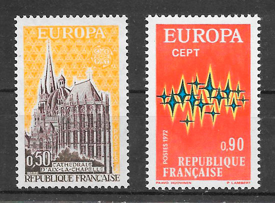 sellos Europa 1972
