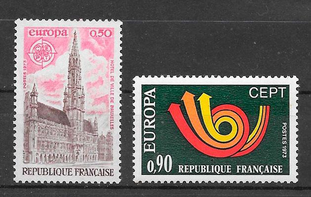 filatelia Europa Francia 1973