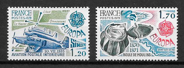 colección sellos Europa Francia 1969