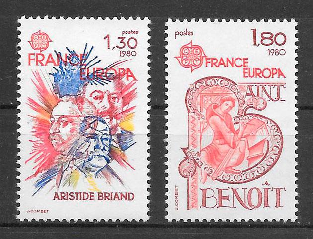 colección sellos Europa Francia 1980