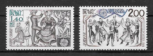 colección sellos Europa 1981 Francia