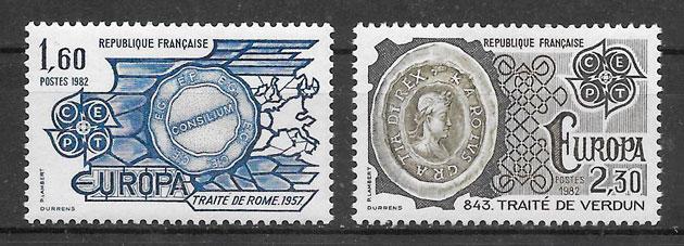 sellos Europa Francia 1982