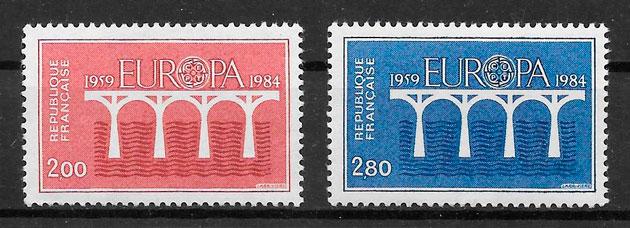 sellos Europa Francia 1984