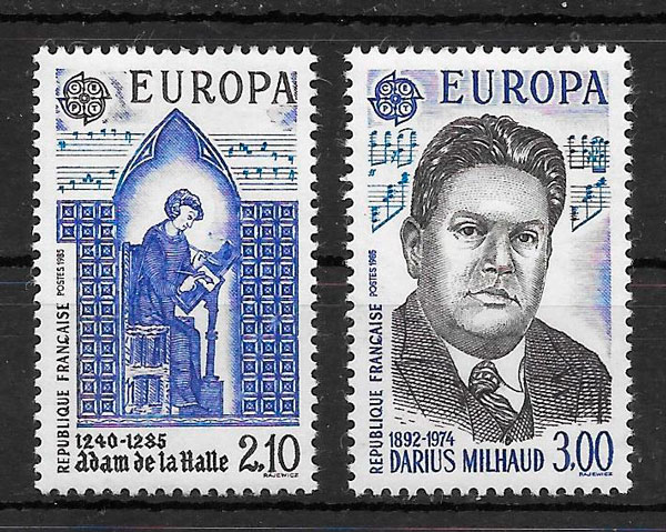 sellos Europa Francia 1985
