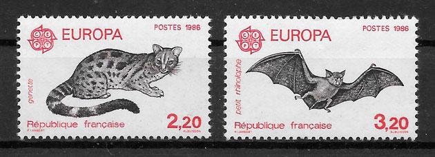 colección sellos Europa Francia 1986