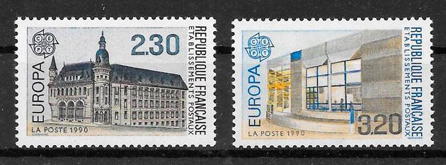 colección sellos Francia 1990 Europa