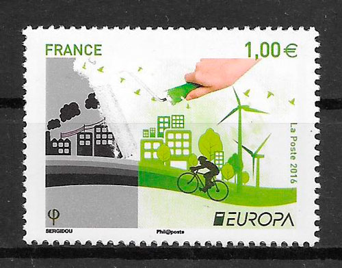sellos tema Europa Francia 2016