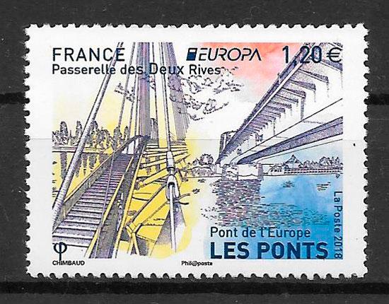 sellos Europa Francia 2018