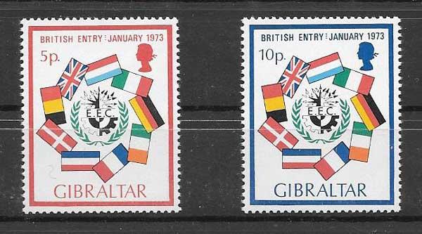 filatelia colección temas varios Gibraltar 1973