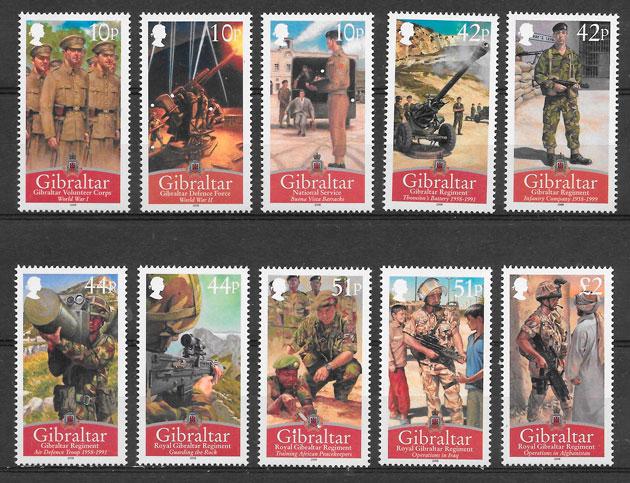 sellos temas varios Gibraltar 2008