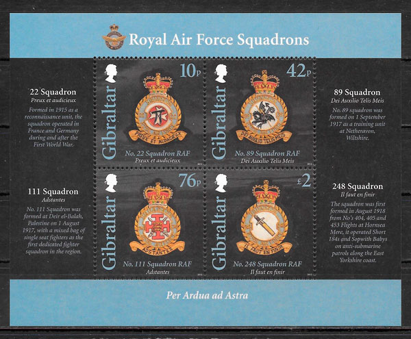 sellos temas varios Gibraltar 2012