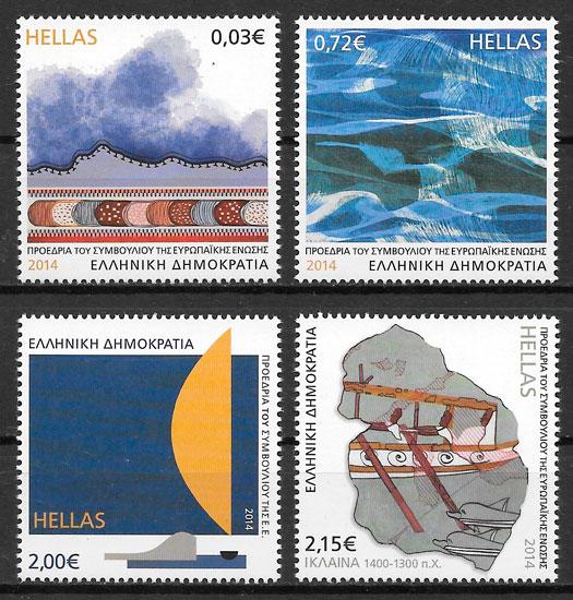 sellos temas varios Grecia 2014
