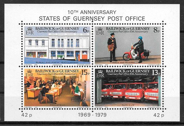 sellos temas varios Guersey 1979