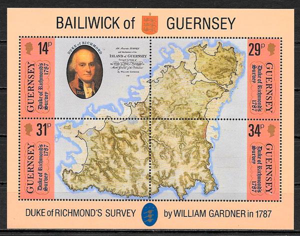 filatelia temas varios Guernsey 1987