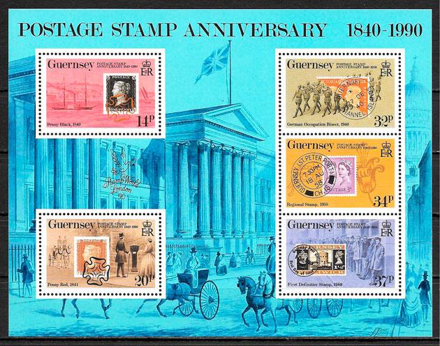 colección sellos temas varios Guernsey 1990