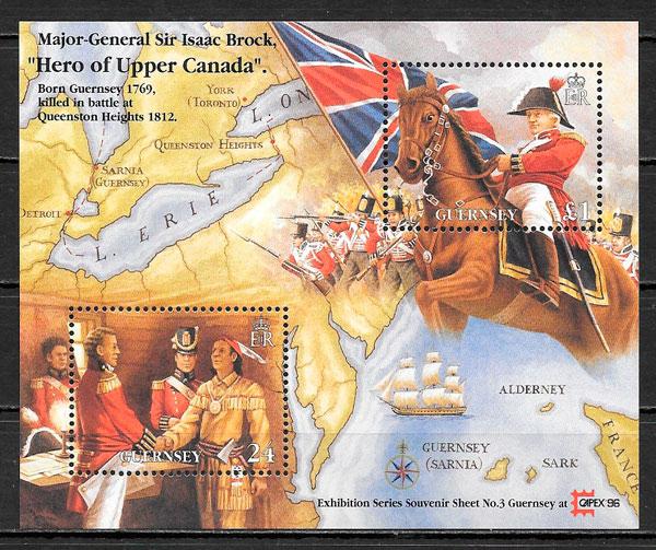 sellos temas varios Guernsey 1996