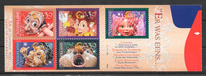sellos temas varios Holanda 2002