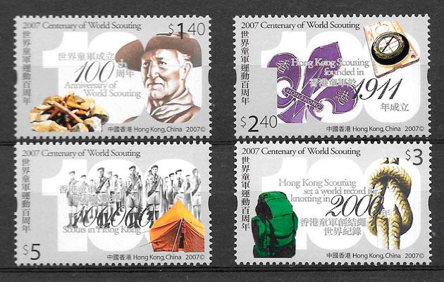colección sellos temas varios Hong Kong 2007
