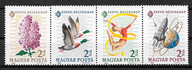 filatelia temas varios Hungría 1964