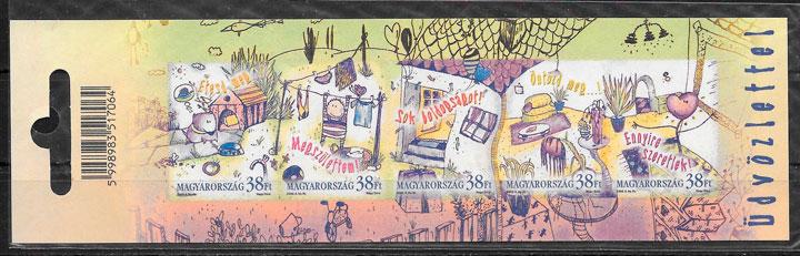 filatelia temas varios Hungría 2002
