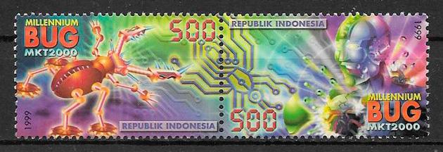 filatelia colección temas varios Indonesia 1999