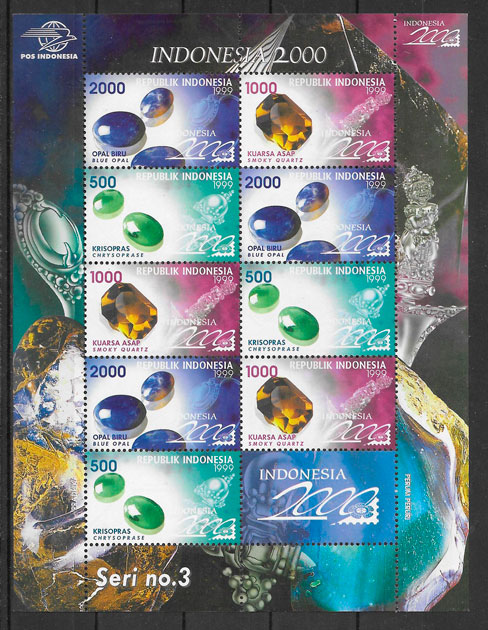 sellos temas varios Indonesia 1999