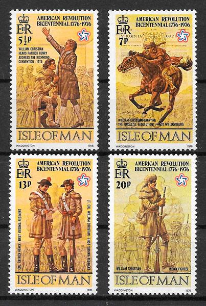 filatelia temas varios Isla de Man 1976